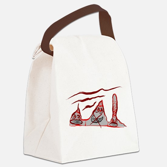 Three in a Row Canvas Lunch Bag