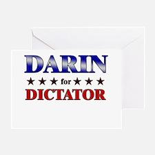 DARIN for dictator Greeting Card