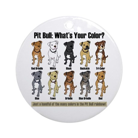 Pit Bull: What's Your Color? Keepsake (Round)