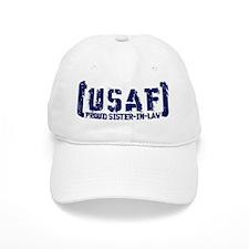 Proud USAF SisNlaw- Tatterd Style Baseball Cap