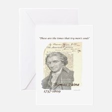 Thomas Paine The American Crisis Greeting Card