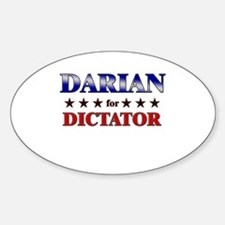 DARIAN for dictator Oval Decal