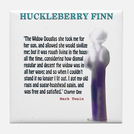 Hucklebury Finn Quote Tile Coaster