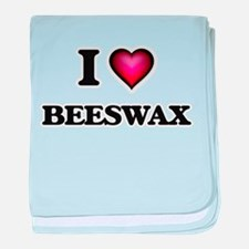 I Love Beeswax baby blanket
