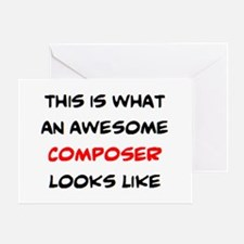 awesome composer Greeting Card