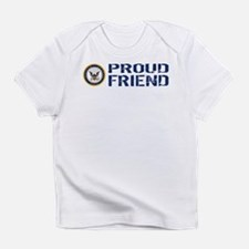 U.S. Navy: Proud Friend (Blue & Whi Infant T-Shirt