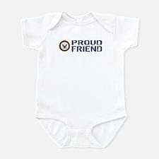 U.S. Navy: Proud Friend (Blue & Wh Infant Bodysuit