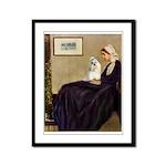 Whistler's / Havanese Framed Panel Print