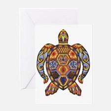 Funny Colorful turtle Greeting Card