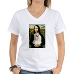 Mona / Havanese Women's V-Neck T-Shirt