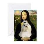 Mona / Havanese Greeting Card