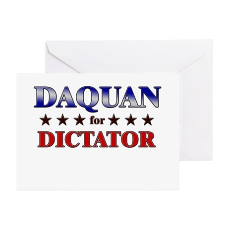 DAQUAN for dictator Greeting Cards (Pk of 20)
