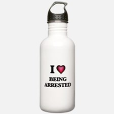 I Love Being Arrested Water Bottle