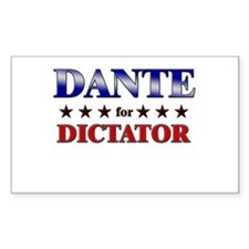 DANTE for dictator Rectangle Decal