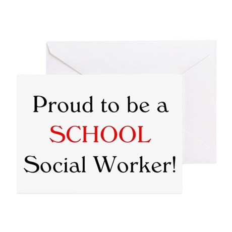 Proud School SW Greeting Cards (Pk of 20)