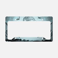 Awesome scary skull License Plate Holder