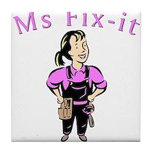 Ms Fix-it Tile Coaster