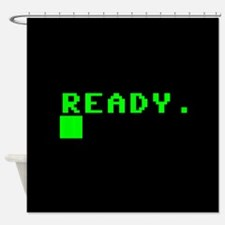 READY COMPUTER PROMPT Shower Curtain