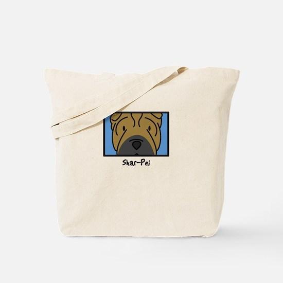Anime Shar Pei Tote Bag