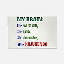 My Brain, 90% Kajukenbo Rectangle Magnet