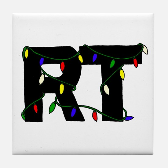 Respiratory Therapist Christm Tile Coaster