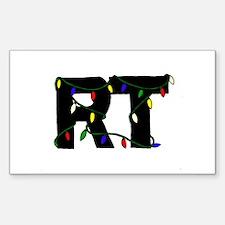 Respiratory Therapist Christm Sticker (Rectangular