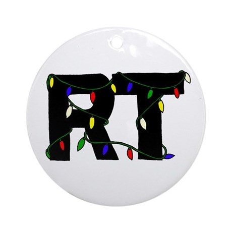 Respiratory Therapist Christm Ornament (Round)