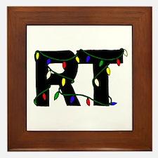 Respiratory Therapist Christm Framed Tile