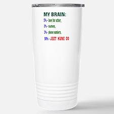 My Brain, 90% Jeet Kune Stainless Steel Travel Mug