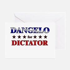 DANGELO for dictator Greeting Card