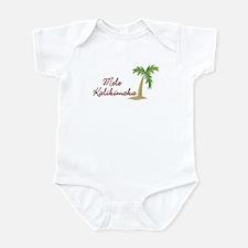 Mele Kalikamaka Hawaiian Xmas Infant Bodysuit