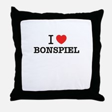 I Love BONSPIEL Throw Pillow