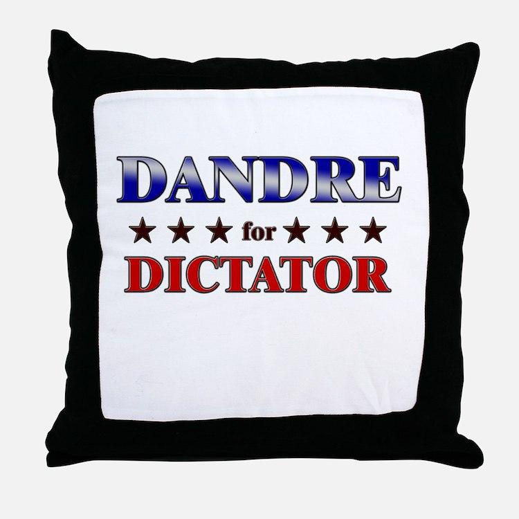 DANDRE for dictator Throw Pillow