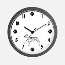American Staffordshire Terrier Wall Clock
