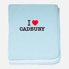 I Love CADBURY baby blanket