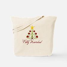 Feliz Navidad Spanish Xmas Tote Bag