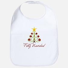 Feliz Navidad Spanish Xmas Bib