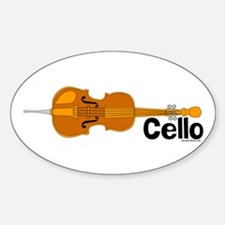 Cello Oval Decal