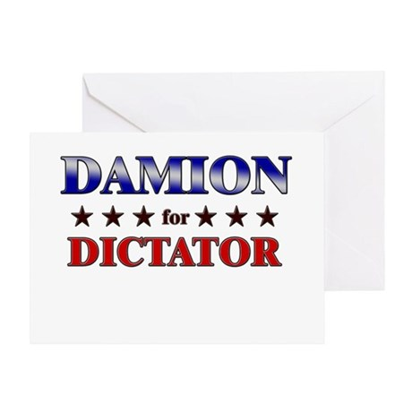 DAMION for dictator Greeting Card