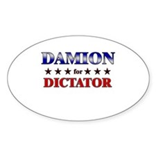 DAMION for dictator Oval Decal