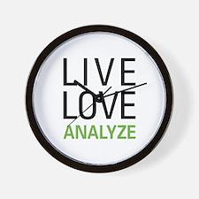 Live Love Analzye Wall Clock