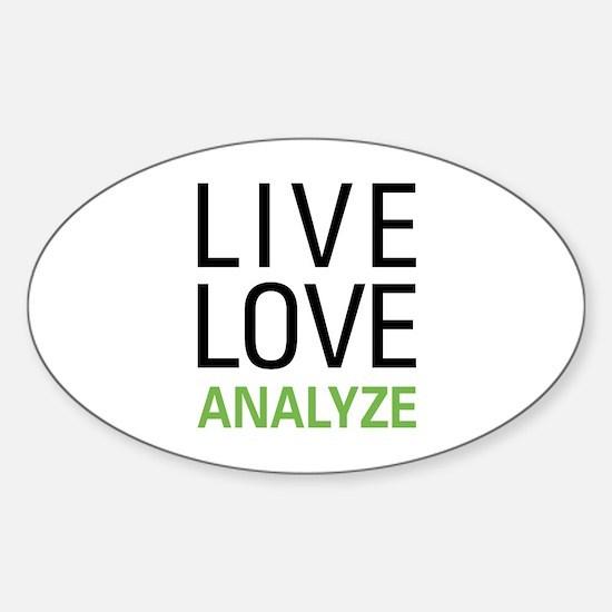 Live Love Analzye Sticker (Oval)