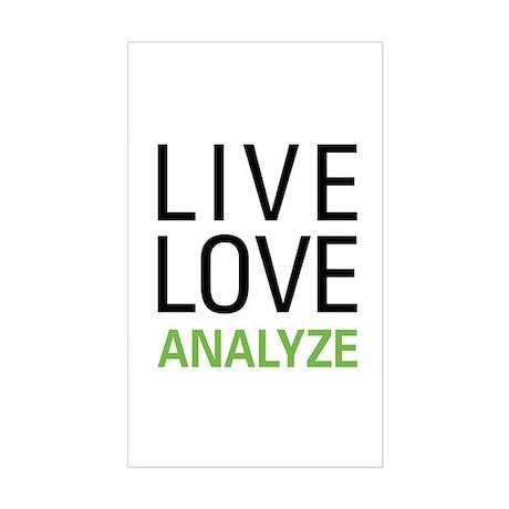 Live Love Analzye Sticker (Rectangle)
