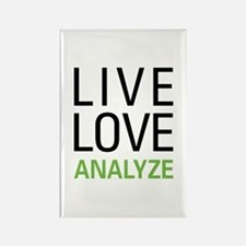 Live Love Analzye Rectangle Magnet