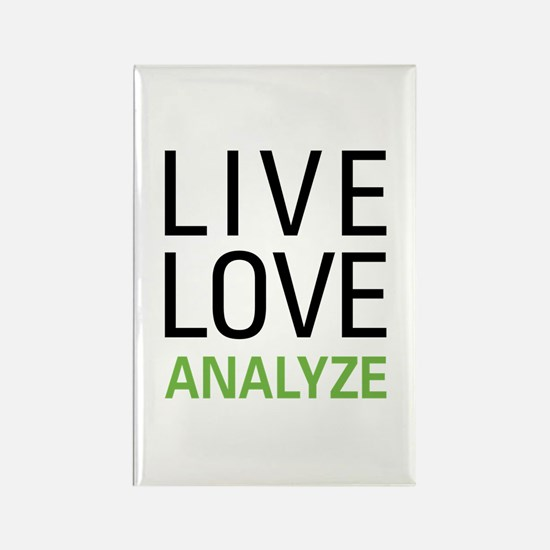 Live Love Analzye Rectangle Magnet