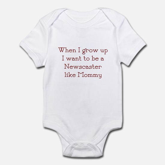 I Want To Be A Newscaster Infant Bodysuit