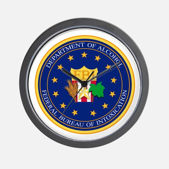 FBI - Department Of Alcohol Wall Clock