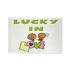 Lucky in Love Rectangle Magnet (100 pack)