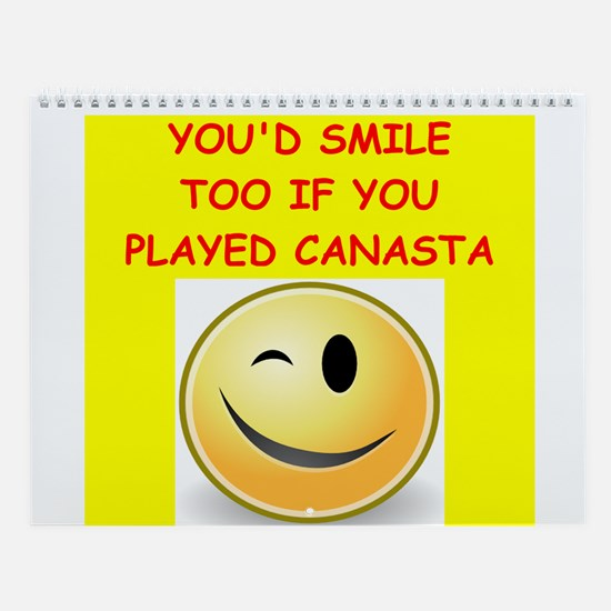 Canasta Player Wall Calendar