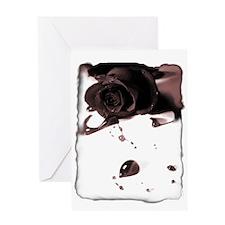 Blood Rose Greeting Card
